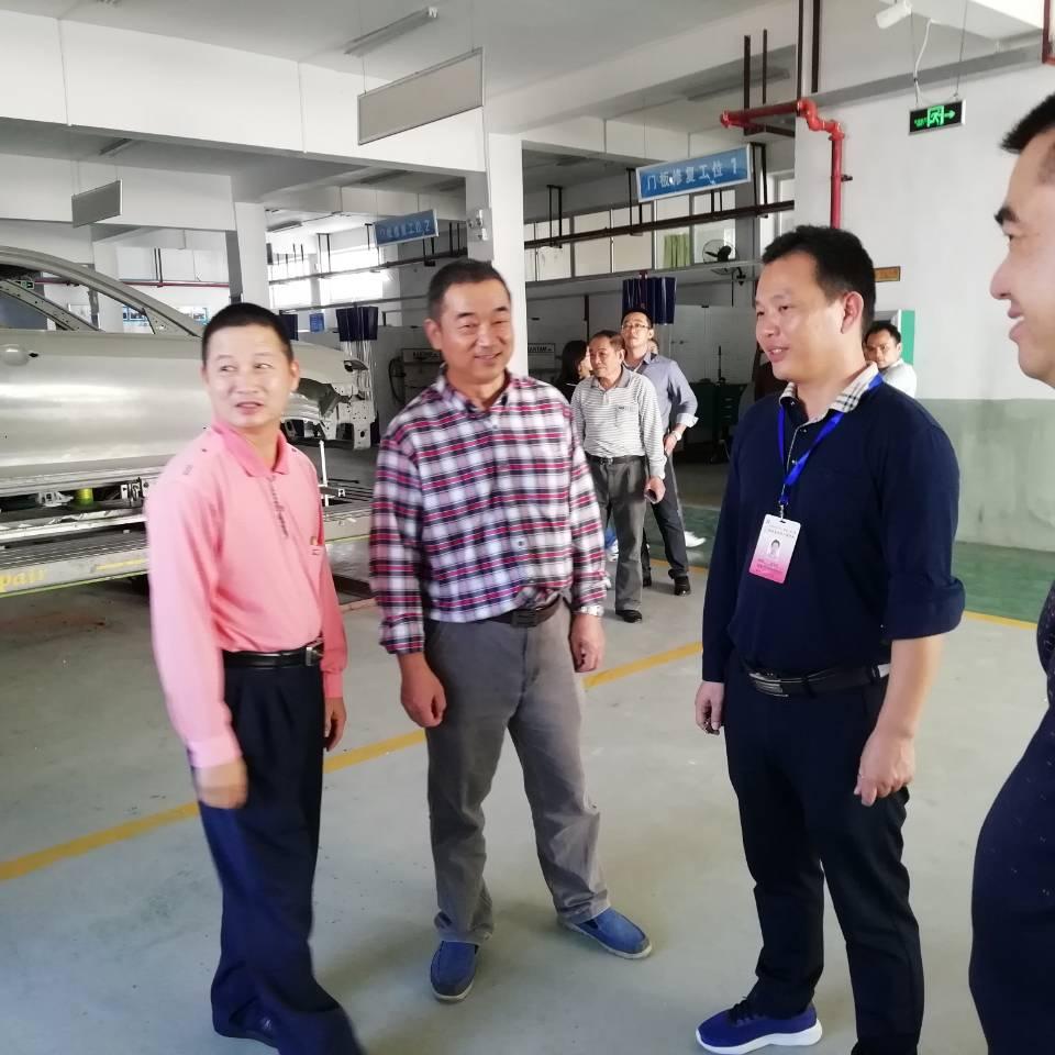 汽车工程学院全体教师参观学习省机电工程学校